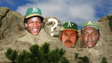 Photo of Oakland Athletics All-Time Mount Rushmore